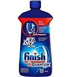 Finish Jet Dry Ultra Rinse Aid   Dishwasher Rinsing and Drying Agent – with Etch Protector – Prevents Spotting and Clouding – Large 32 Ounce Bottle – for 315 Washes