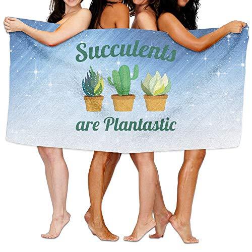 09b56b321 Bath Towel Succulents are Plantastic Custom Soft Large Swim Beach Towels