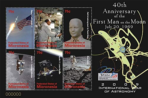 Apollo 11-40th Anniversary of The Moon Landing - Limited Edition Collectors Stamps - Micronesia