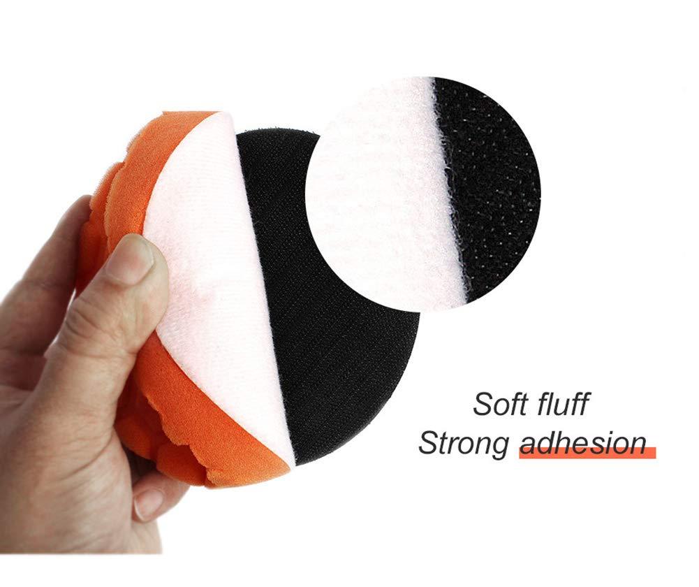 4-Inch Car Buffing Pads Foam Sponge Polishing Pads Kit with Backing Pad 5//16-24 for Car Buffer Polisher Sanding Polishing Waxing