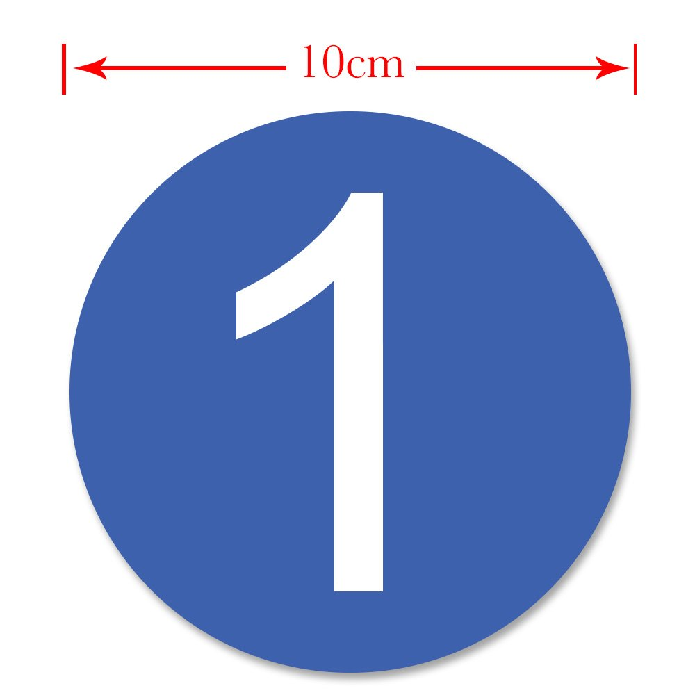Amazon com dealzepic round blue large number stickers 1 to 5 self adhesive peel and stick vinyl label sticker 10 cm 3 94 inches in diameter home