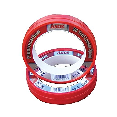 Ande FCW50-50 Clear Fluorocarbon Leader, 50-Yard, 50-Pound