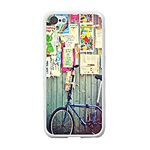 High Impact Combo Graphic Customized Design Mobile Phone Hard Plastic Iphone 5c Back Protective Case Cover Skin (bicycle BY419)