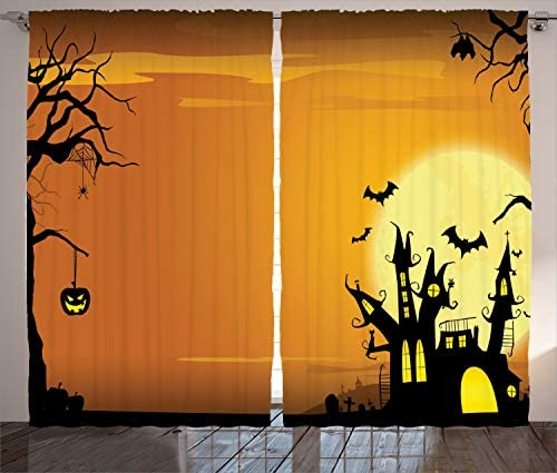 Ambesonne Halloween Curtains