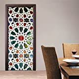 CaseFan 3D Kaleidoscope Door Wall Mural Wallpaper Stickers Vinyl Removable Decals for Home New Decoration 30.3x78.7,Multicolor