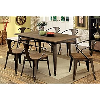 Attractive Furniture Of America Cadiz 7 Piece Industrial Dining Set