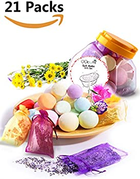 QQcute 21-Piece Bath Bombs Gift Set without Flower Petals