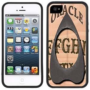 Ouija Board Handmade iPhone 5 Black Bumper Plastic Case