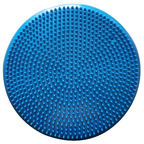 Air Stability Wobble Cushion, Blue, 35cm/14in Diameter, Balance Disc, Pump Included