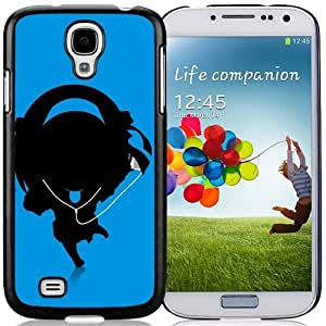 New Personalized Custom Designed For Samsung Galaxy S4 I9500 i337 M919 i545 r970 l720 Phone Case For Cartoon Music Girl Silhouette Phone Case Cover