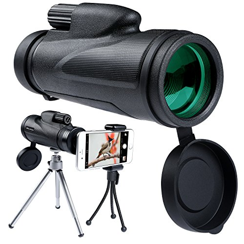 12X50 Monocular Telescope High Powered Waterproof Portable Compact Monocular Low Light Night Vision with Fully Multi-Coated Lens for Outdoor, Hunting, Bird Watching, Camping, Hiking by Blisstime