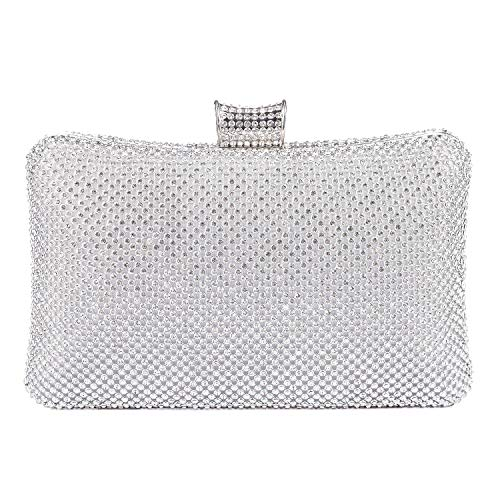 BAIGIO Sparkle Rhinestone Evening Clutch Purse Elegant Diamante Evening Bag Party Wedding Purses Handbag for Women -