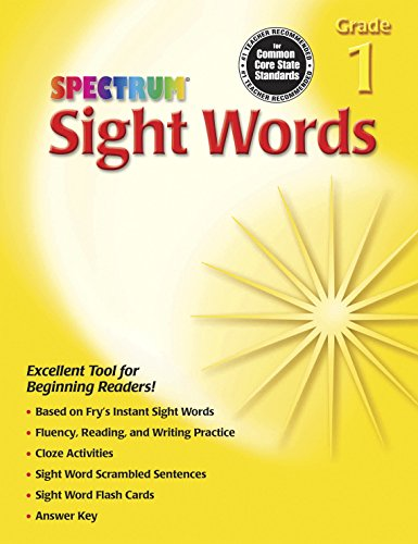 Spectrum Sight Words, Grade 1 (Halloween Language Arts Activities Grade 1)
