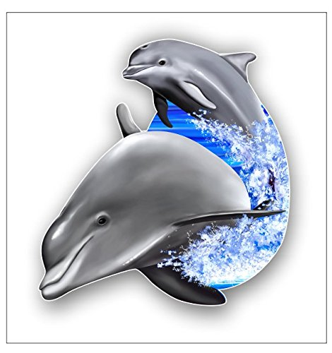 Junkie Graphics Dolphins jumping sticker