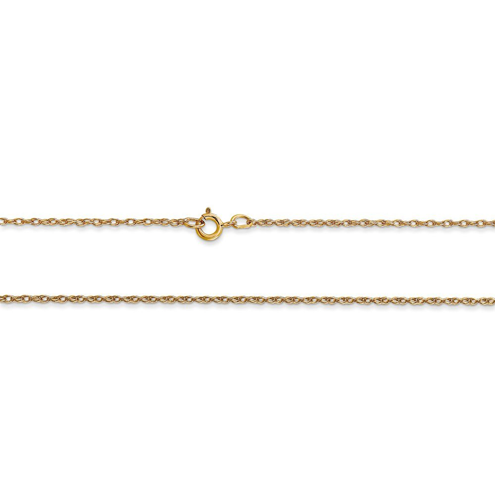 Rembrandt Charms 10K Yellow Gold Anchor in a Circle Charm on a Rope Chain Necklace, 18'' by Rembrandt Charms (Image #3)