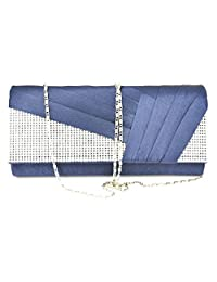 Wedding Evening Bag Nodykka Party Pleated Satin Rhinestone Clutches Handbags Purse
