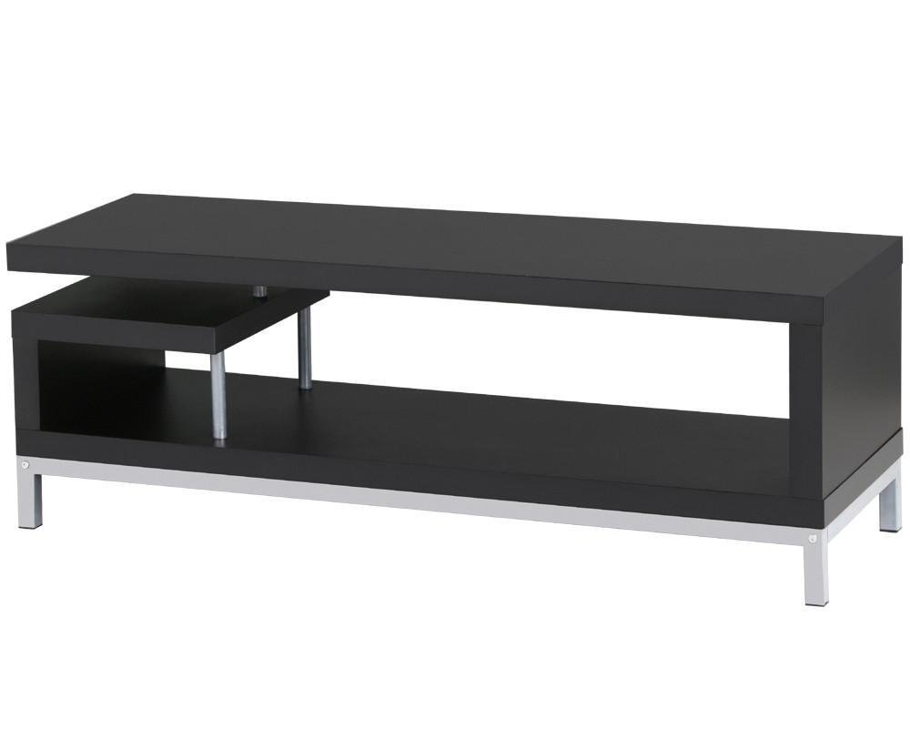 Yaheetech Black Wood TV Stand Console Table Home Entertainment Center Media Cabinets with Steel Leg for Flat Screens by Yaheetech (Image #4)