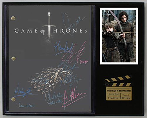 "GAME OF THRONES LTD EDITION REPRODUCTION SIGNED TELEVISION SCRIPT DISPLAY""C3"""