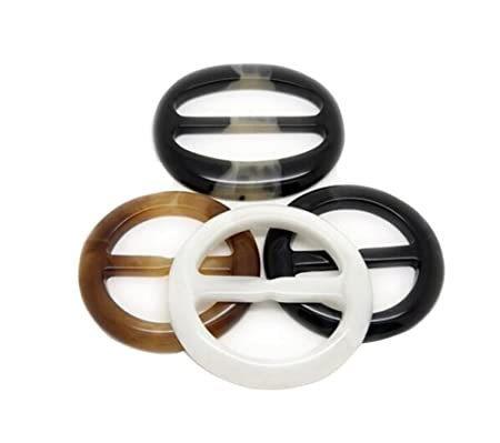 Color Random 6PCS Plastic Round Shape Fashion Scarf Clip Ring Scarf Slides for Twilly Neckerchief 1 Inch