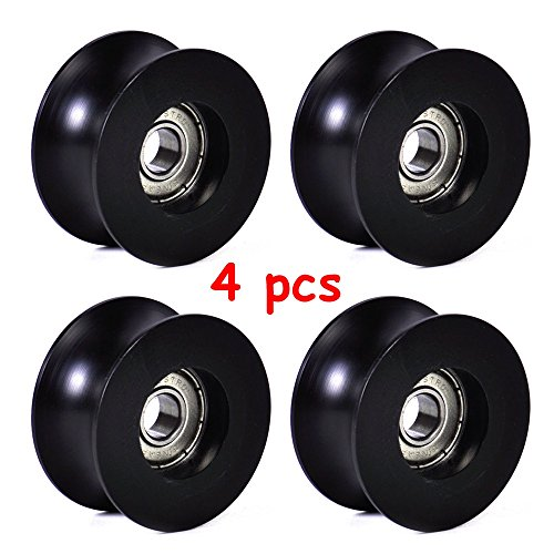 4 pcs 0840UU 8mm Groove Guide Pulley Sealed Rail Ball Bearing 8 x 40 x 20.7 mm - Terminal Melbourne International