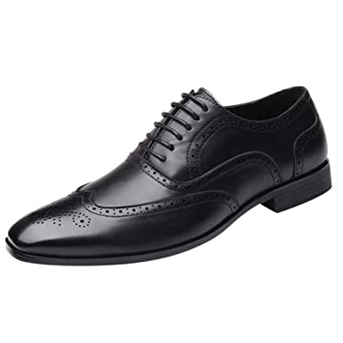 Shoes Mens Oxfords Shoes Leisure Casual Genuine Leather Wedding Dress Shoes For Men Business Brogues Shoes Moccasins Square Toe Shoes Formal Shoes