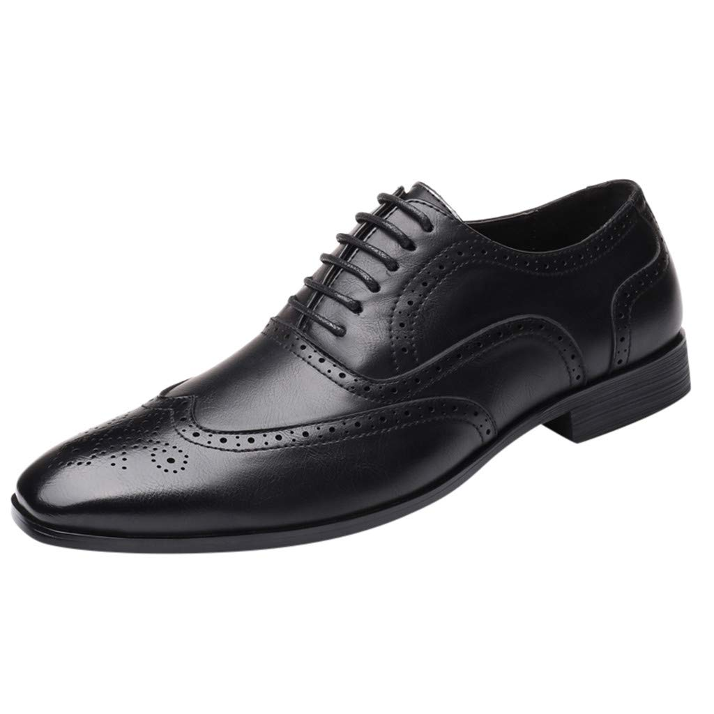 Corriee 2019 Most Wished Formal Shoes for Men Stylish Pointed Toe Oxford Leather Wedding Shoes Business Shoes Black