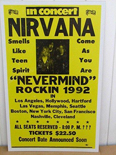 Nirvana Concert Tour Poster 1992