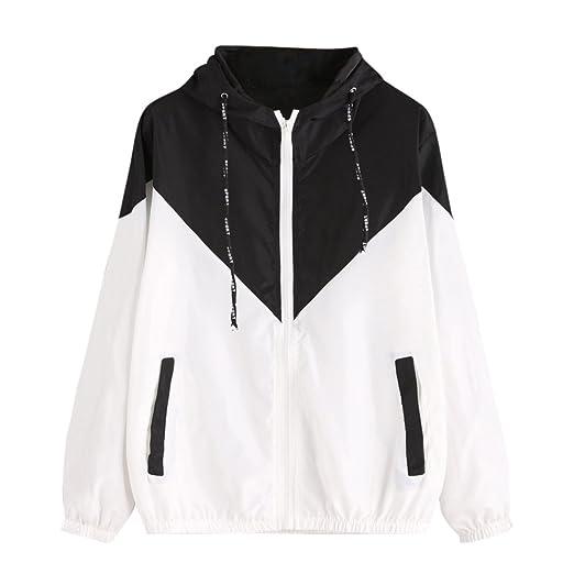 Womens Color Block Waterproof Raincoat Casual Thin Drawstring Hooded Zip up Sports Rian Jacket Windproof Windbreaker