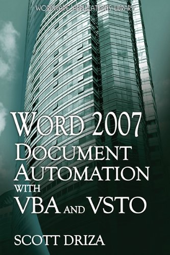 Word 2007 Document Automation with VBA and VSTO (Wordware Applications Library) Pdf