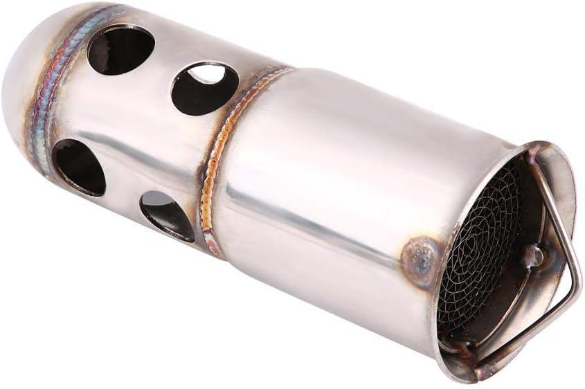 1 51mm Edelstahl Universal Keenso Motorrad Auspuff Schalld/ämpfer Einsatz DB Killer Noise Eliminator