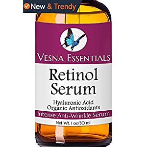 VE Retinol Serum for Face - Retinol Anti Aging Moisturizer Serum for Wrinkle Care - The Best Non-Medical Retinol with Hyaluronic Acid 1 oz