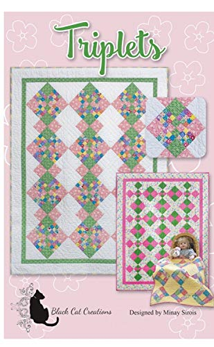 Triplets - Quilt Pattern by Black Cat Creations