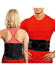 Lower Back Brace by FlexGuard Support - Lumbar Support Waist Backbrace for Back Pain Relief - Compression Belt for Men and Women - Back Braces for Sciatica, Scoliosis and Herniated Disc