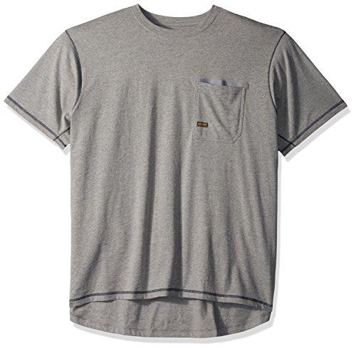 Ariat Men's REBAR Short Sleeve Crew, Heather Grey, Large Ariat Short Sleeve Shirt