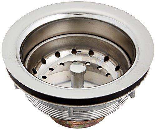 BLANCO 440029 Deluxe Kitchen 3-1/2-Inch Basket Strainer, Chrome