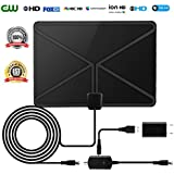 HDTV Antenna Indoor Digital 50 Miles TV Antenna 2018 Newest Type Switch Console Amplifier Signal Booster High Performance 16.5FT Coaxial Cable
