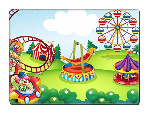 Circus Clipart - Luxlady Natural Rubber Placemat IMAGE ID: 34280888 Wallpaper of circus and theme park design