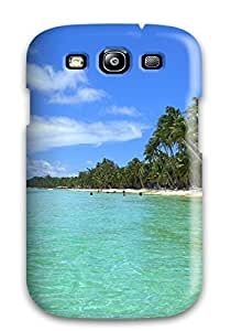 Anti-scratch And Shatterproof Tropical Beach Sunset Phone Case For Galaxy S3/ High Quality Tpu Case