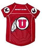 Dog Zone NCAA Pet Football Jersey, Medium, University of Utah, My Pet Supplies