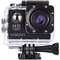 Vemont Action Camera 1080P 12MP Sports Camera Full HD 2.0...
