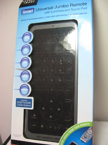 Price comparison product image The Sharper Image Smart Universal Jumbo Remote with Luminescent Touch Pad - never lose your remote again