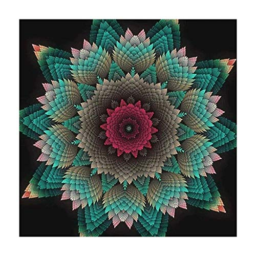 - Customize 5D Diamond Painting Full drills Floral DIY Diamond Embroidery Kit Mandala Full Diamond Painting By Number Mosaic Cross Stitch Craft Needlework Decor