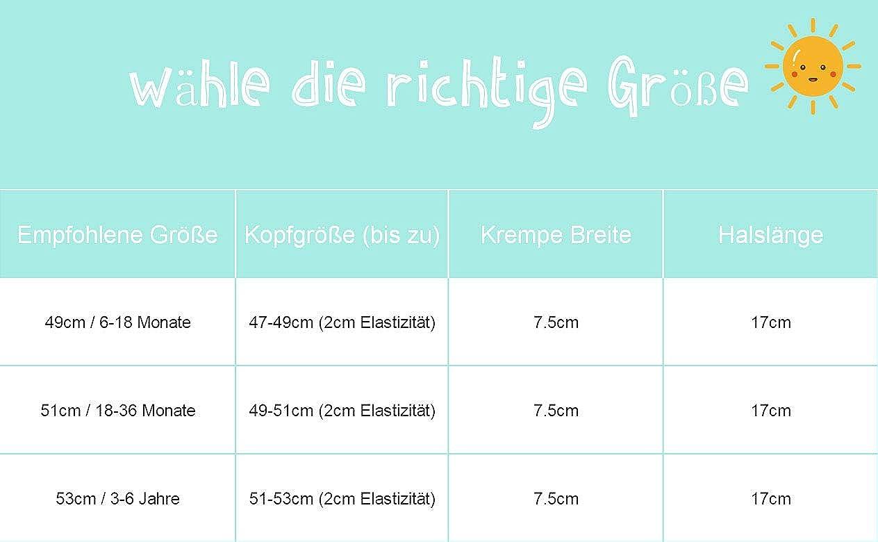 Foruhoo Baby M/ütze UV-Schutz 50 mit Kordelzug for Jungen Breite Krempe Sommerhut Sonnenhut