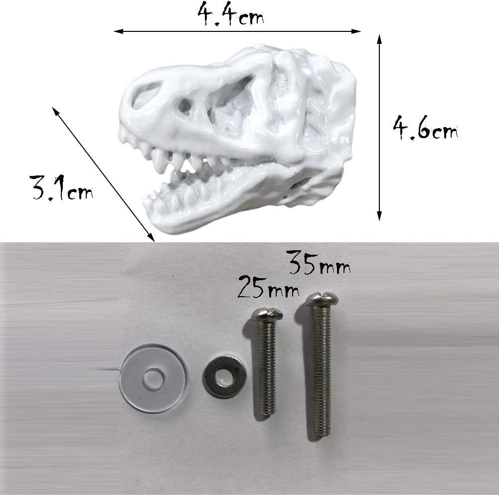 Blanc Panda Legends 3 Pcs Simulation Dilophosaurus Commode Poign/ée R/ésine Dinosaure Boutons pour Armoire /À Tiroirs Placard