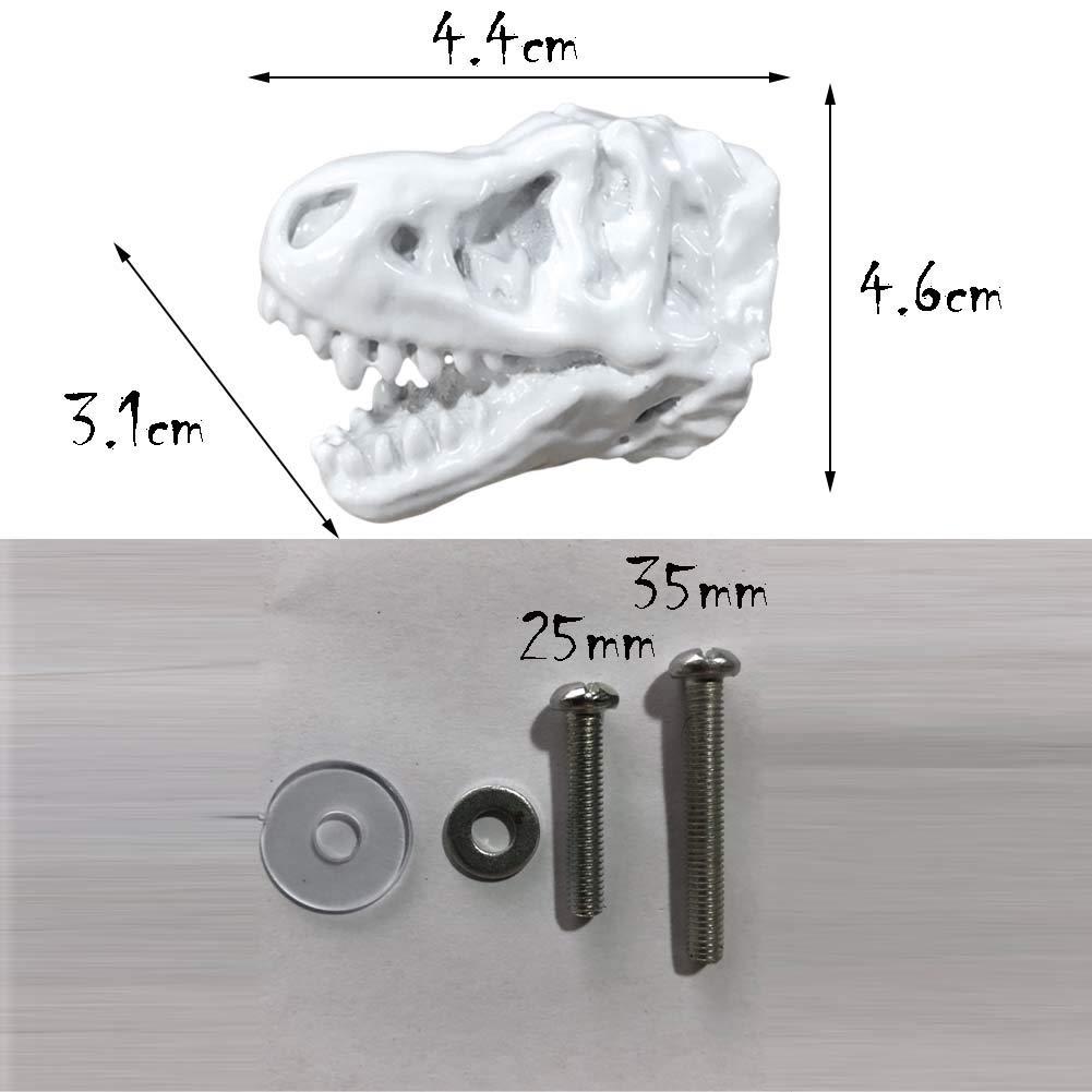Bronze Panda Legends 3 St/ück Simulation Dinosaurier Schublade Kn/öpfe Harz Dilophosaurus Kabinett Griff zieht