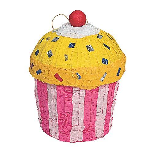 Cupcake Pinata for Birthday Party Decor (Pull String Pinata Cupcake)