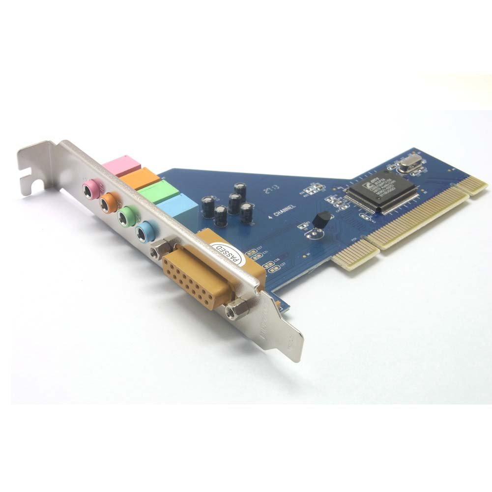 SIENOC 5 canales 4.1 estéreo sonido Surround PCI tarjeta de audio