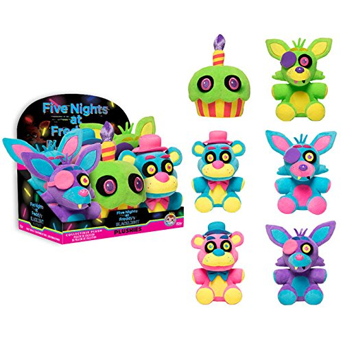 Funko Five Nights at Freddy's Blacklight Plushies Set (Glow in the Dark)