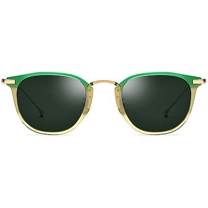 FangYOU1314 Gafas Unisex Gafas de Sol polarizadas Redondas ...