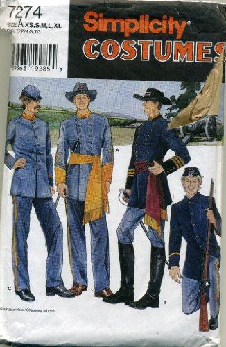 (Simplicity Mens and Teens Civil War Costumes #7274 )